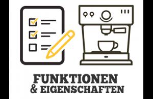 Funktionen & Eigenschaften beim Kaffeevollautomaten Illustration