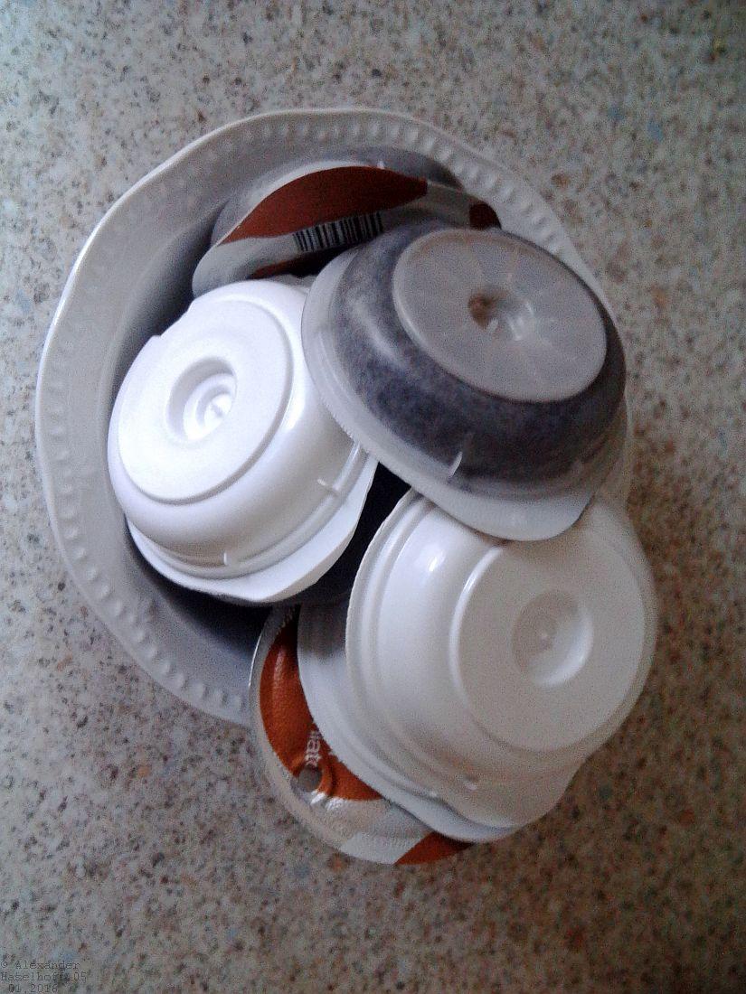 Verbrauchte Tassimo Discs